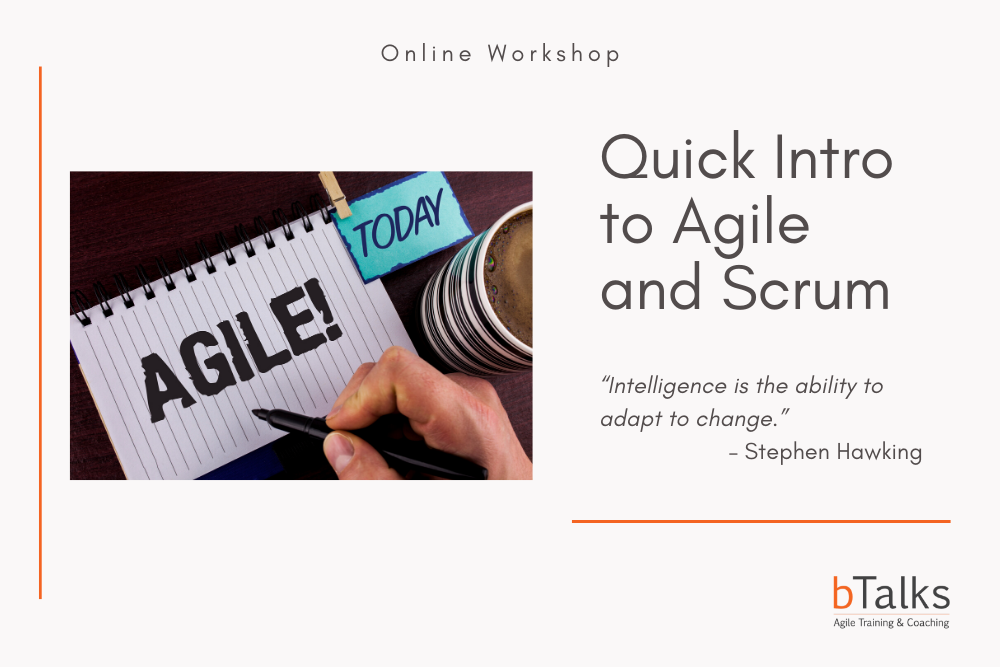 Quick Intro to Agile and Scrum - Online Version