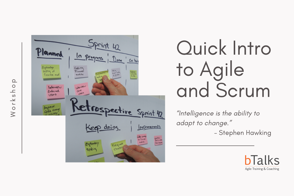Quick Intro to Agile and Scrum